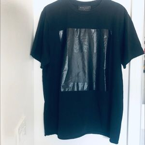 Black Scale- Black Square Mens Shirt